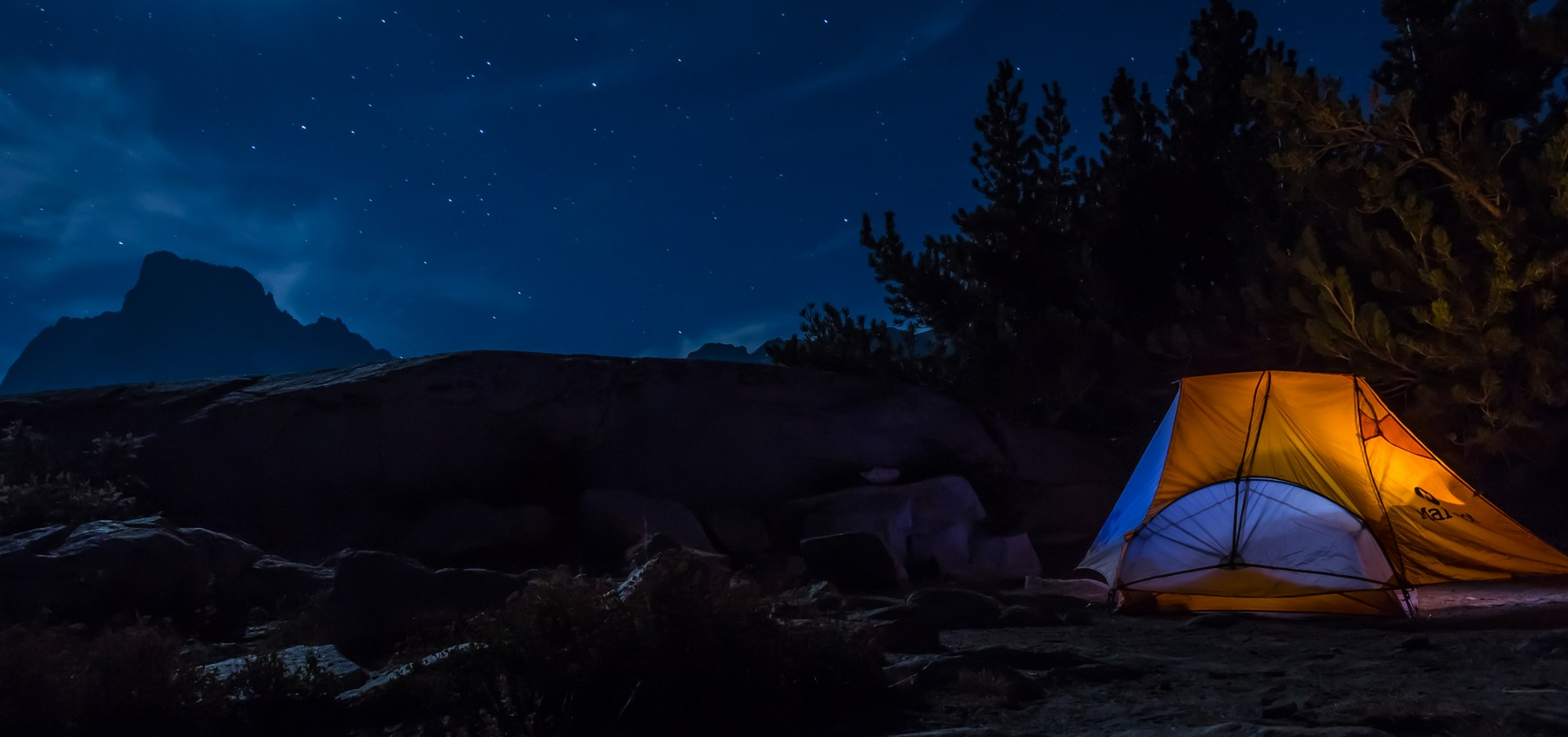 Blue, Third Place: Dale Fehr, Hampton. 'I took this photo at Thousand Island Lake in the Sierra Nevada Mountains near Mammoth Lake, California. I was camping there on a hiking trip. I wanted to try a photo by lighting up my tent. The moonlight made fo