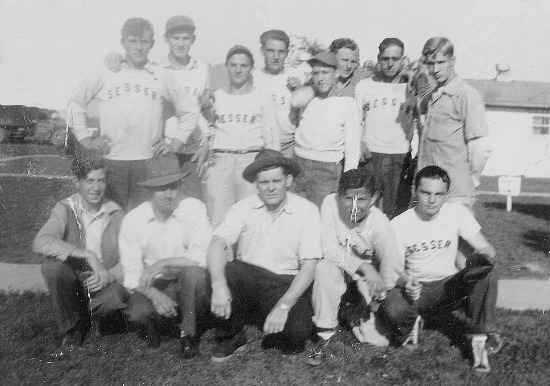 The Sesser Egyptians circa 1940. Gene Moore is in the back row, fourth from the left.