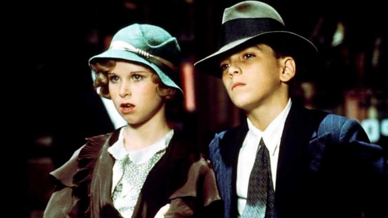 Florence Garland and Scott Baio in Bugsy Malone
