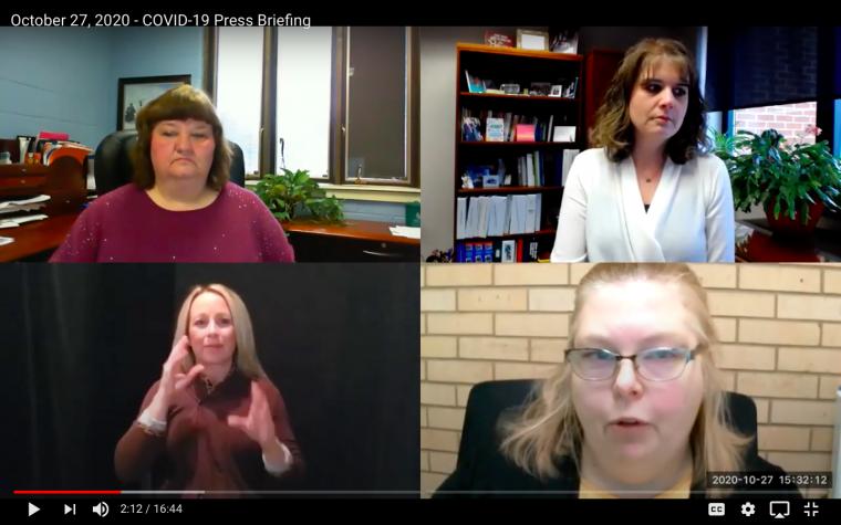 QC Covid Coalition Presser Oct 27 2020 Video Screenshot