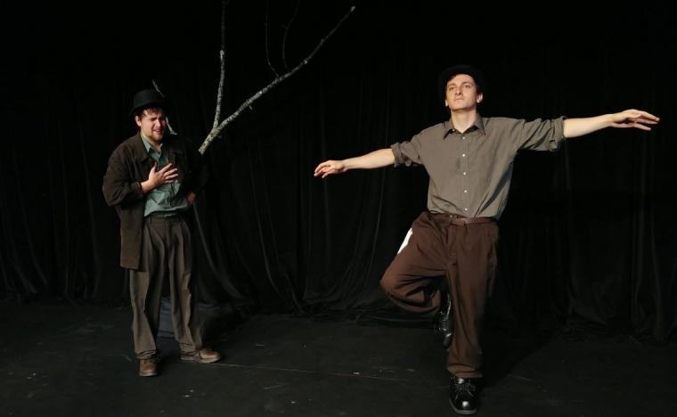 Tristan Odenkirk and Peter Alfano in Waiting for Godot